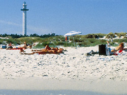 Camping, Familiecamping, campingplads, Campingpladser - Bornholm  - M�llers Dueodde - Camping