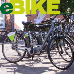 Geschäfte auf Bornholm, wie z.B.  -  El-cykler cykeludlejning